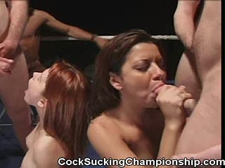 Porn Stars Gina Ryder VS. Dynamite Sucking Cocks