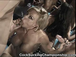 Taylor St.Claire VS.Amber Lynn Porn Star BJ Competition