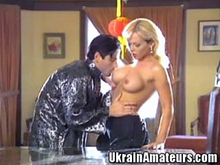European Couple Asian Fantasy Ass Poundung - This sexy European couple are living out their sexual fantasies with a flavor of the orient. This busty blonde give up all of her hole for her boyfriend. He take full advantage pounding her pussy and ass relentlessly. He finishes by shooting a huge hot load all over her face.video
