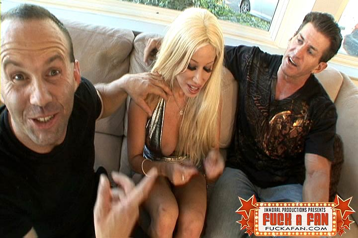 Porn Star Gina Lynn Fucks Lee Stone While Fan Eric Jacks Off