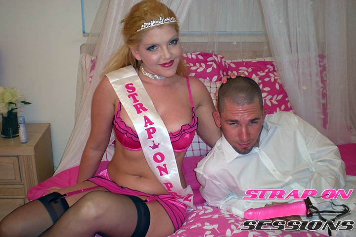 Brad Submits to the Strap On Princess Taking Her Pink Dildo