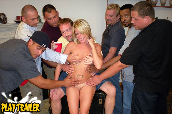 Hot Wife Gang Bang Bukkake Party