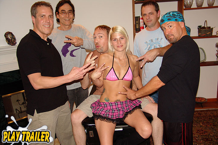 Her First Gang Bang Bukkake Party