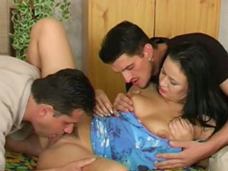 European Girl Takes 2 Cocks - Heres just a typical Ukrainian amateur threesome scene. The amazing thing is that although its typical its extremely hot. The girl seduces two guys primes them for action and has them both fuck her simultaneously. The guys just do as they are told and theyre happy with that much. They get a lot of pussy and get to give her a facial too.video